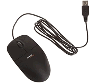 Amazon Basics 3-Button USB Wired Computer Mouse
